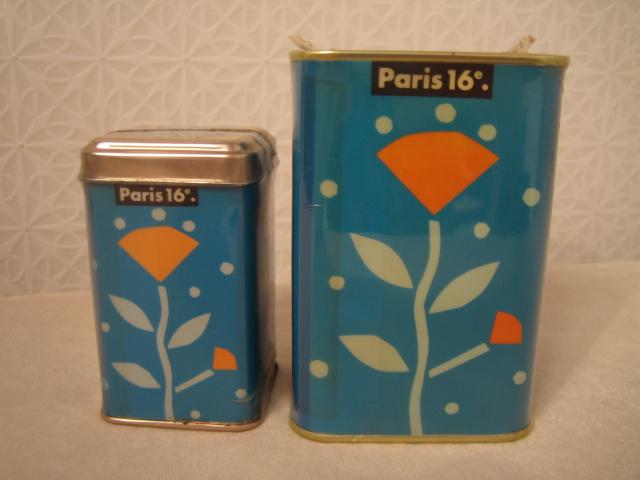 Paris 16 紅茶缶 空き缶 90年代のインテリア雑誌の常連_画像3