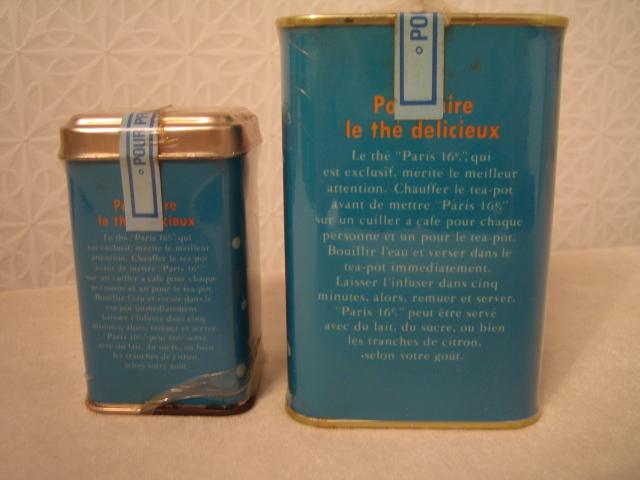 Paris 16 紅茶缶 空き缶 90年代のインテリア雑誌の常連_画像4