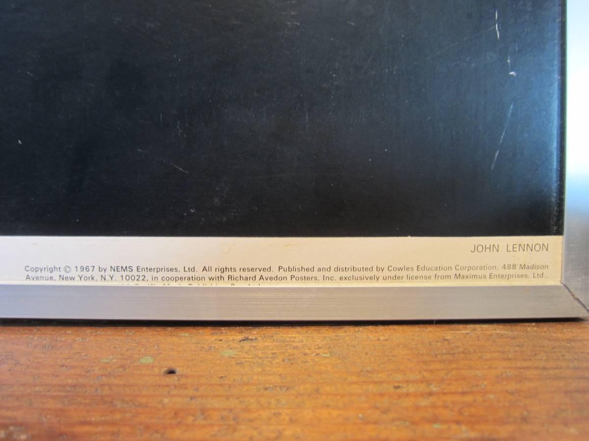 リチャード・アベドン撮影 《ビートルズ BEATLES 1967年オリジナル品・アートポスターフレーム額装 ポスター》Richard Avedon_画像6