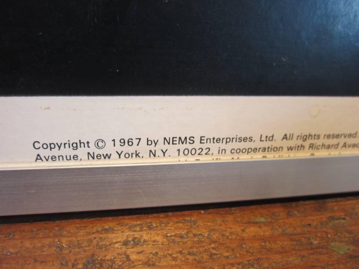 リチャード・アベドン撮影 《ビートルズ BEATLES 1967年オリジナル品・アートポスターフレーム額装 ポスター》Richard Avedon_画像7