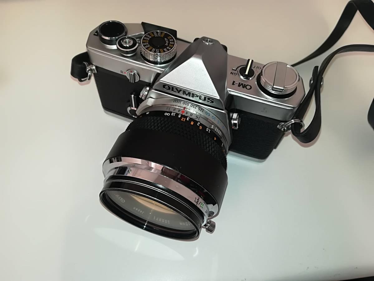 【532】OLYMPUS オリンパス OM-1 ■ G.ZUIKO AUTO-S 1:1.2 f=55mm/ E.ZUIKO AUTO-T 1:2.8 F=100mm レンズ付き ジャンク 1円スタート