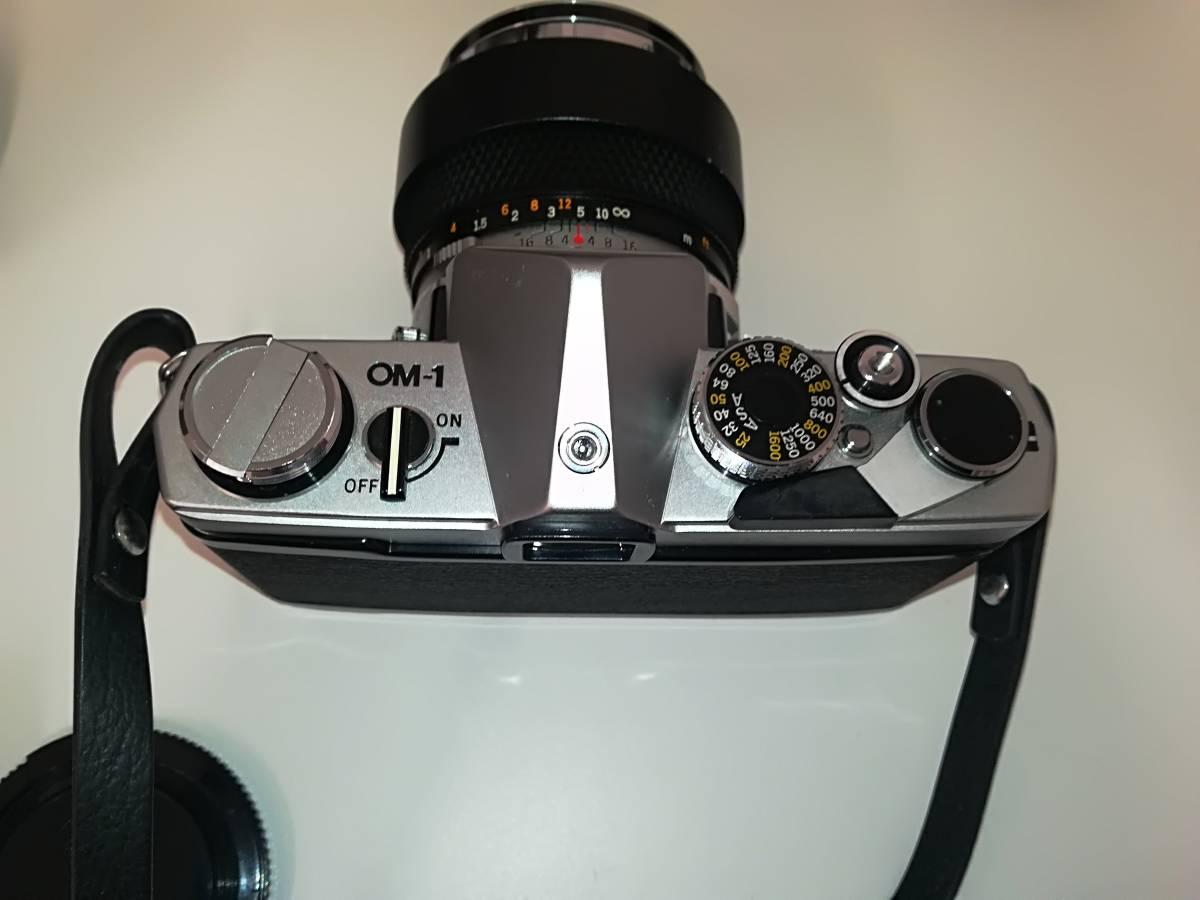 【532】OLYMPUS オリンパス OM-1 ■ G.ZUIKO AUTO-S 1:1.2 f=55mm/ E.ZUIKO AUTO-T 1:2.8 F=100mm レンズ付き ジャンク 1円スタート_画像4