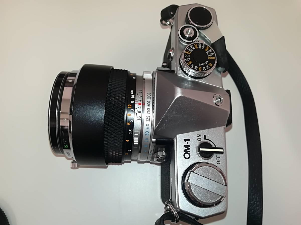 【532】OLYMPUS オリンパス OM-1 ■ G.ZUIKO AUTO-S 1:1.2 f=55mm/ E.ZUIKO AUTO-T 1:2.8 F=100mm レンズ付き ジャンク 1円スタート_画像5