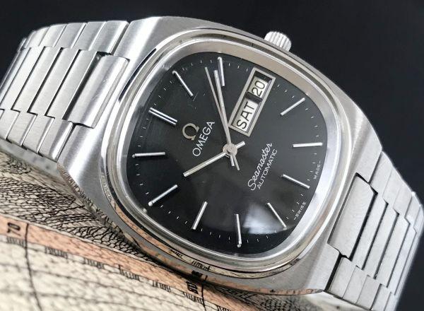 【☆仕上げ済み☆】オメガ シーマスター Cal.1020 ヴィンテージ アンティーク 自動巻き メンズ腕時計 極上品 黒_画像2