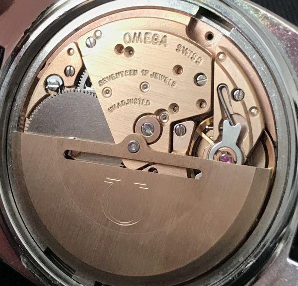 【☆仕上げ済み☆】オメガ シーマスター Cal.1020 ヴィンテージ アンティーク 自動巻き メンズ腕時計 極上品 黒_画像9