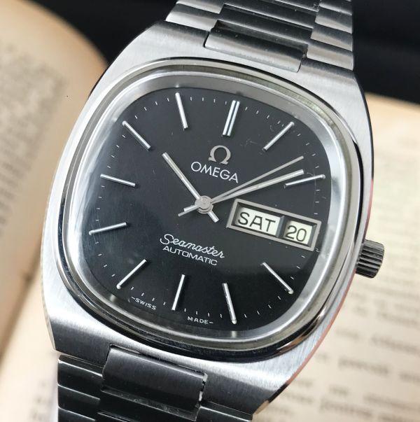 【☆仕上げ済み☆】オメガ シーマスター Cal.1020 ヴィンテージ アンティーク 自動巻き メンズ腕時計 極上品 黒