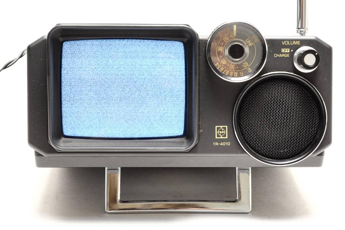 National 白黒テレビ TR-4010 ナショナル 2080年製 ACアダプター付き 通電確認済 78302209_画像2