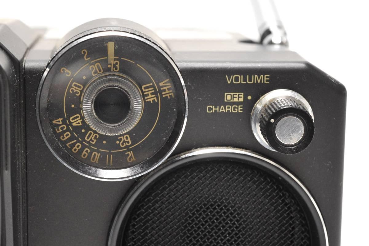 National 白黒テレビ TR-4010 ナショナル 2080年製 ACアダプター付き 通電確認済 78302209_画像4