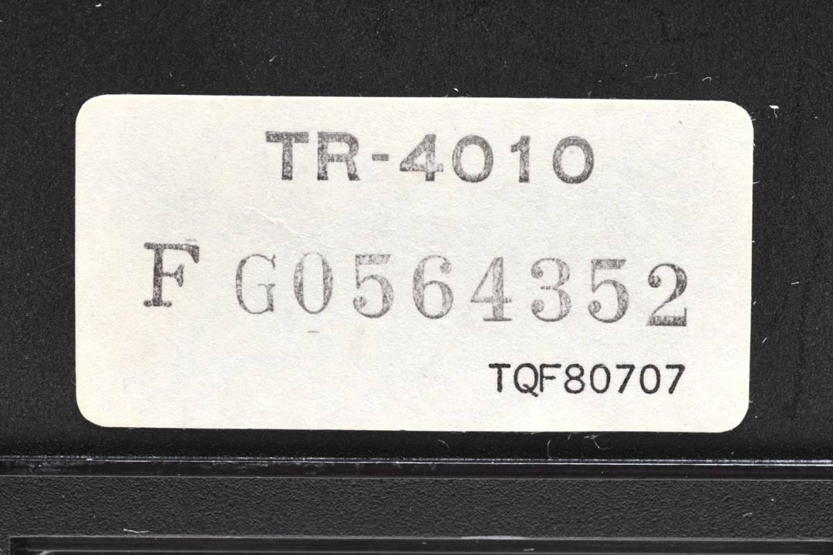 National 白黒テレビ TR-4010 ナショナル 2080年製 ACアダプター付き 通電確認済 78302209_画像10