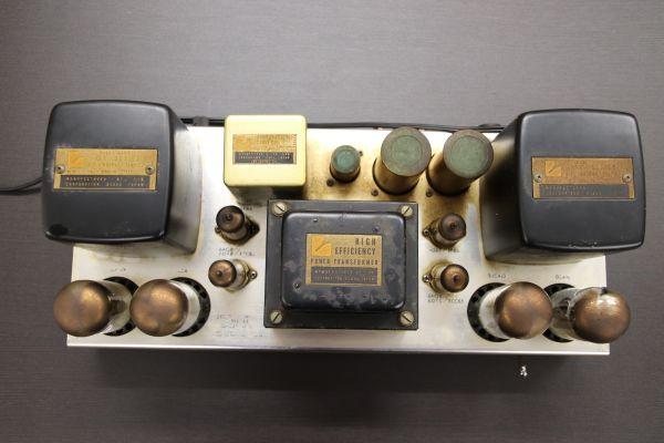 1円 LUXMAN KMQ60 ジャンク 部品取り ステレオパワーアンプ 通電確認 真空管点灯 最落なし レア ラックスマン_画像3