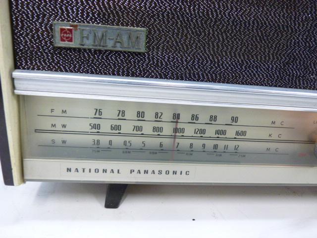 ■アンティーク National Panasonic ナショナル パナソニック 真空管ラジオ 3バンド RE-860 動作品■_画像2