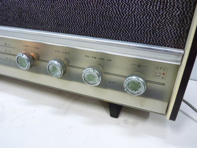 ■アンティーク National Panasonic ナショナル パナソニック 真空管ラジオ 3バンド RE-860 動作品■_画像3