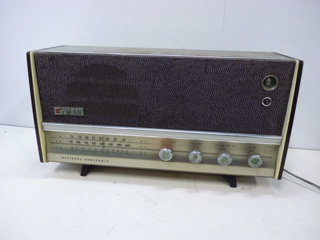 ■アンティーク National Panasonic ナショナル パナソニック 真空管ラジオ 3バンド RE-860 動作品■