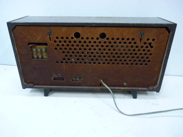 ■アンティーク National Panasonic ナショナル パナソニック 真空管ラジオ 3バンド RE-860 動作品■_画像5