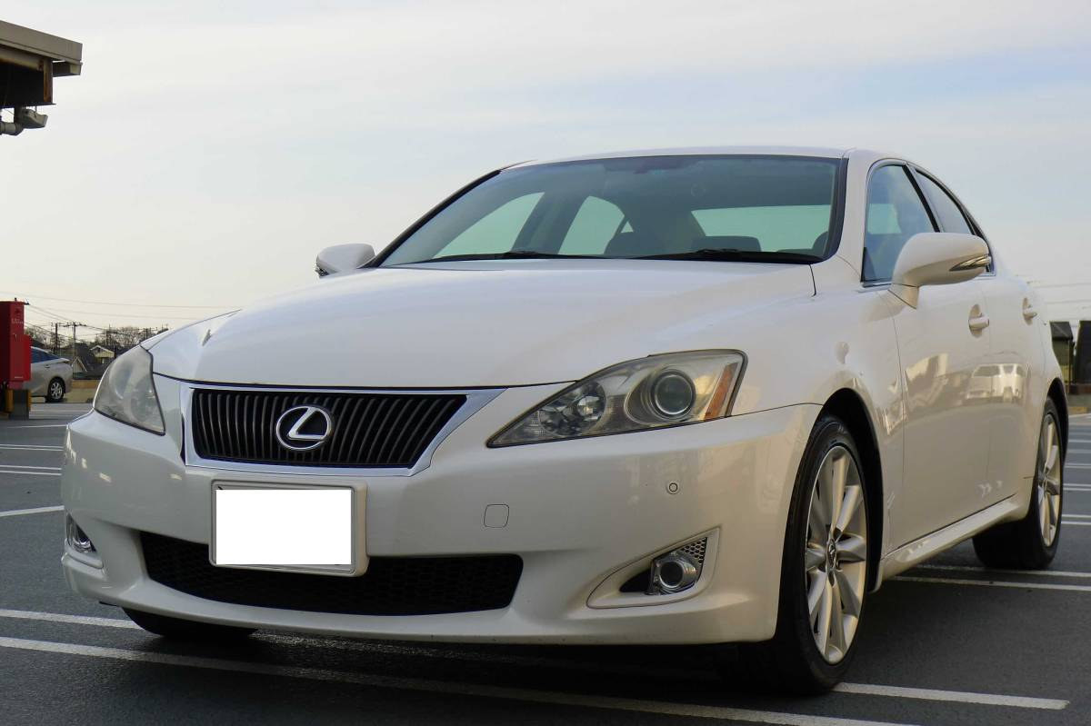 H20 year Lexus IS250 middle period type pearl white complete Lexus
