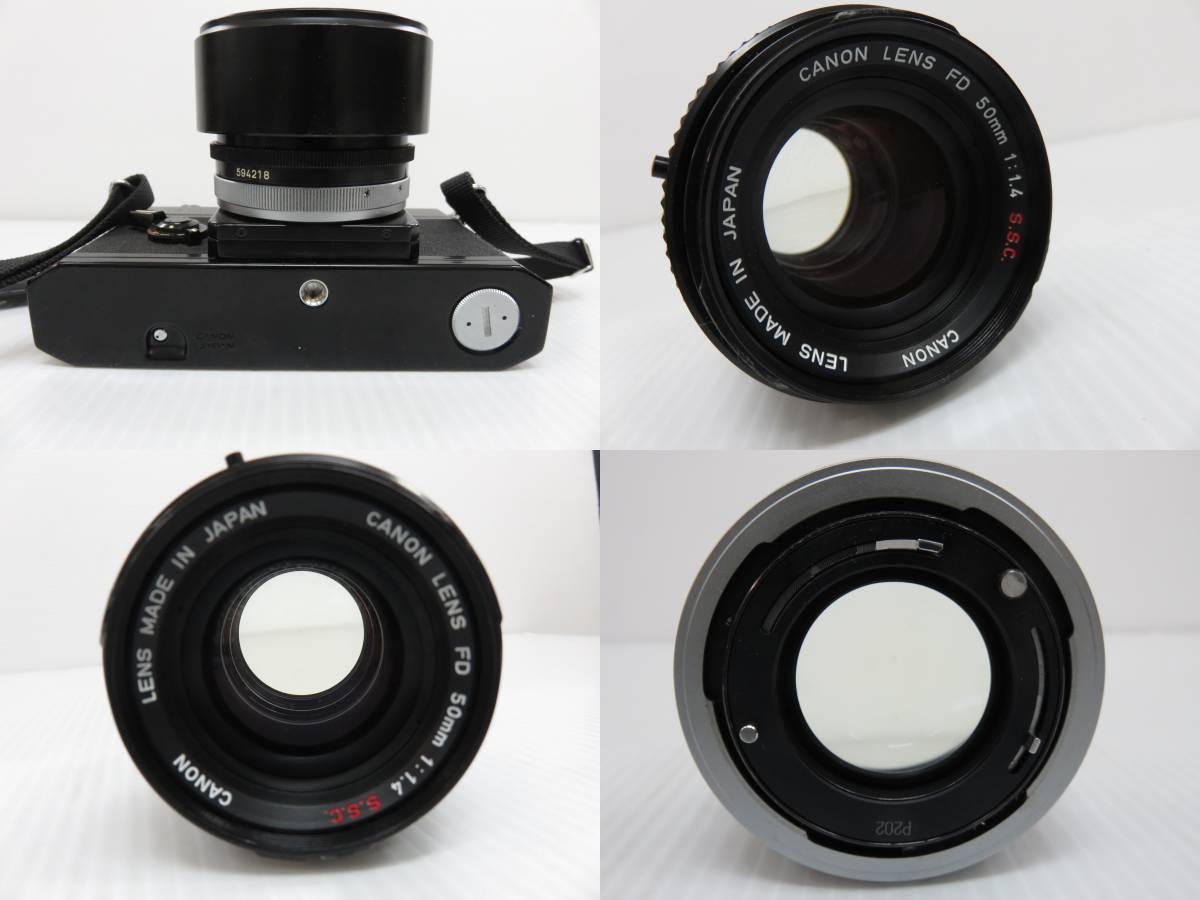Canon キャノン F-1 カメラ FD 50mm 1:1.4レンズ付 詳細(動作)不明の為ジャンク 現状 一切の保証なし_画像4