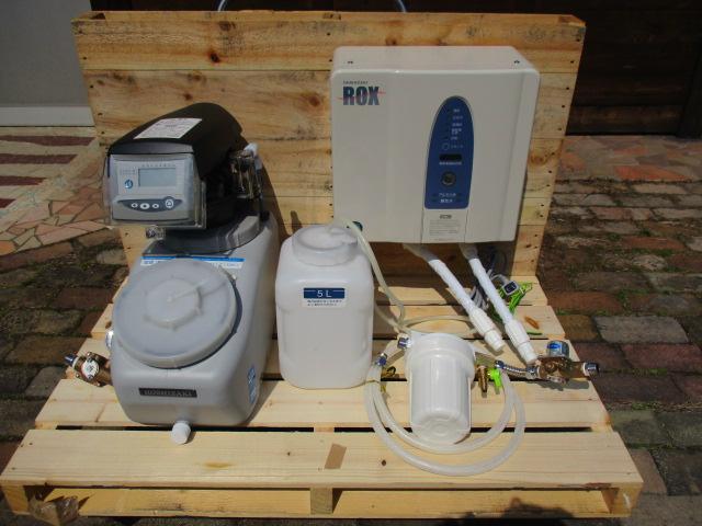 ■■ホシザキ■電解水生成装置 ROX-10WB3/軟水器 SSH-03C■2015年製■食品や調理器具の洗浄・殺菌■