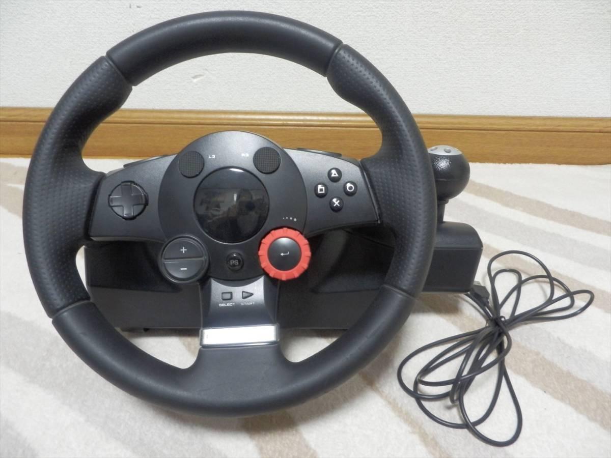 ロジクール ドライビングフォースGT Logicool Driving Force GT 【PS3】【PS4】LPRC14000 国内正規品 《ジャンク》_画像2