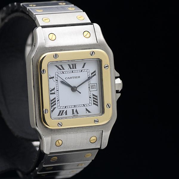 1円 Cartierカルティエ サントスガルベ LM メンズ 自動巻き YG/SS コンビ 腕時計