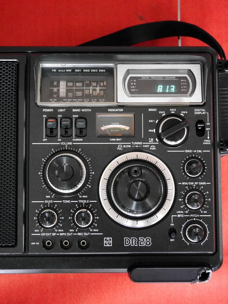 昭和レトロ National Panasonic RF-2800B 5バンドBCLラジオ英語版(English Edition)【動作済み美品】_画像5