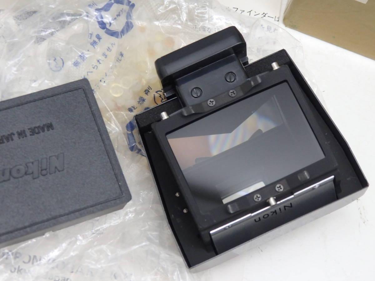 新同 Nikon F アイレベル ファインダー ブラック 箱入り_画像2