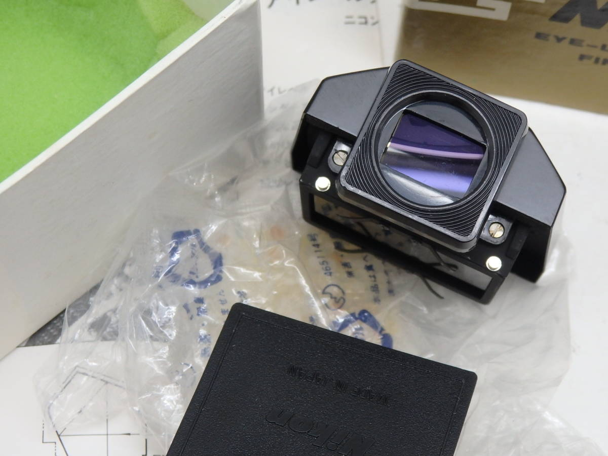 新同 Nikon F アイレベル ファインダー ブラック 箱入り_画像3