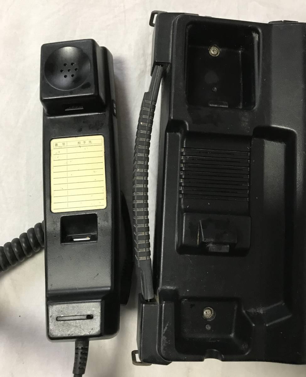1991年製 EF-6256形簡易陸上移動無線電話移動機 カーテレフォン 車 携帯電話 初期 昭和レトロ_画像3