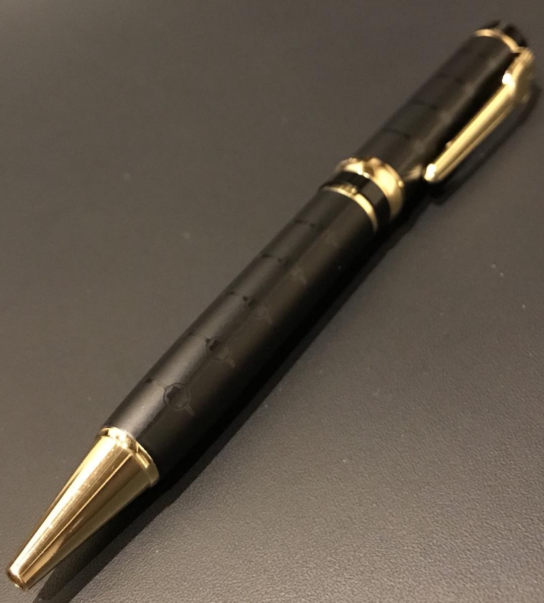 ★送料無料★新品同様 美品 モンブラン MONT BLANC ボールペン 黒 ゴールド