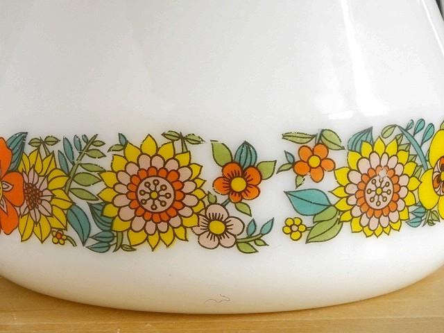 ●○ミルクガラスの花柄ポット SCHOTT MAINZ○●コーヒーポットピッチャーレトロアンティークヴィンテージビンテージ_画像5