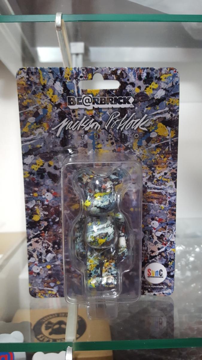 BE@RBRICK Jackson Pollock Studio 100% ベアブリック ジャクソンポロック SYNC メディコムトイ MEDICOMTOY KAWS_画像1