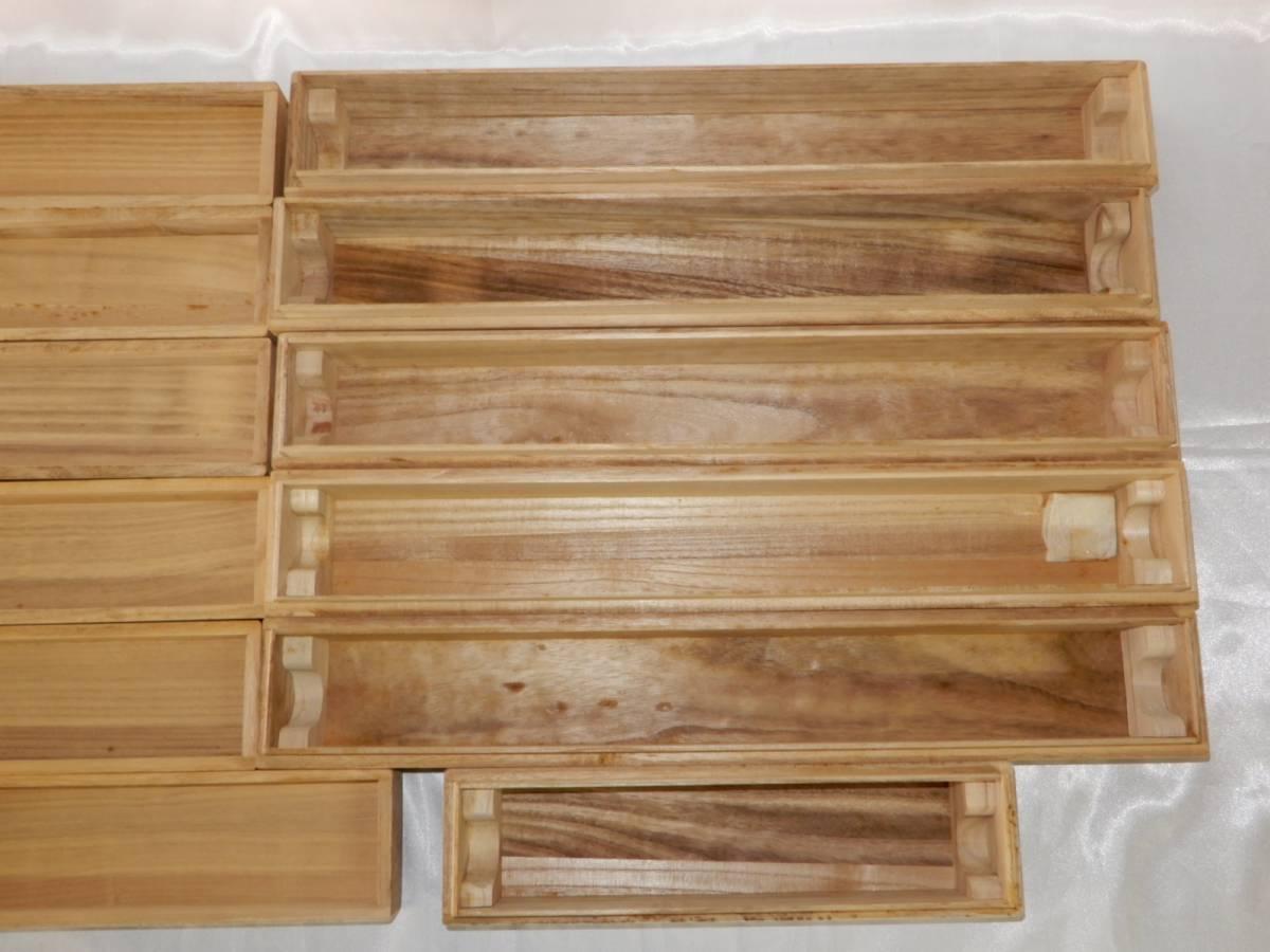 掛け軸 書画 保存箱 空箱 まとめて6品 内寸470(横)×58(縦)×50(高さ)5品 / 273(横)×58(縦)×50(高さ)1品_画像8