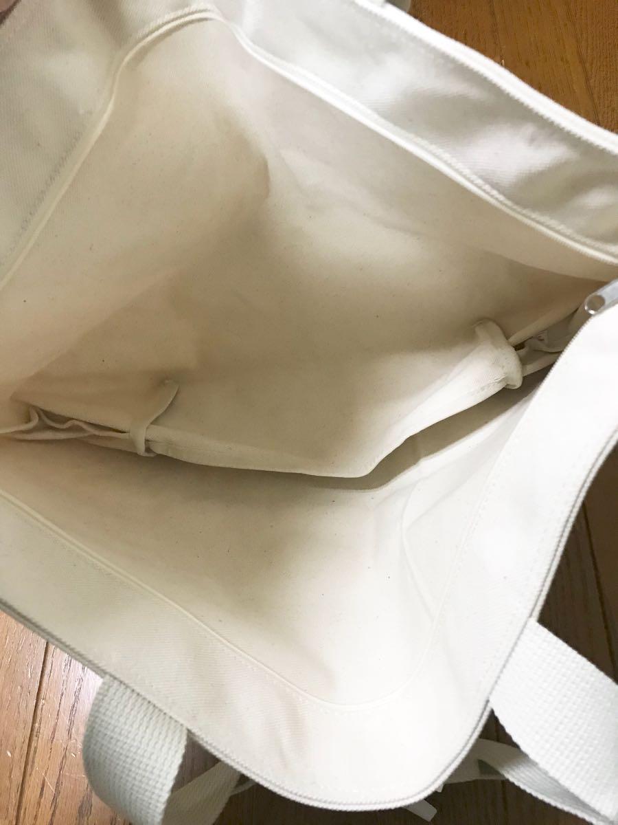 新品 アフタヌーンティーリビング 2016福袋 高島帆布大きなトートバッグ ナチュラル afternoontea キャンバストート_画像4