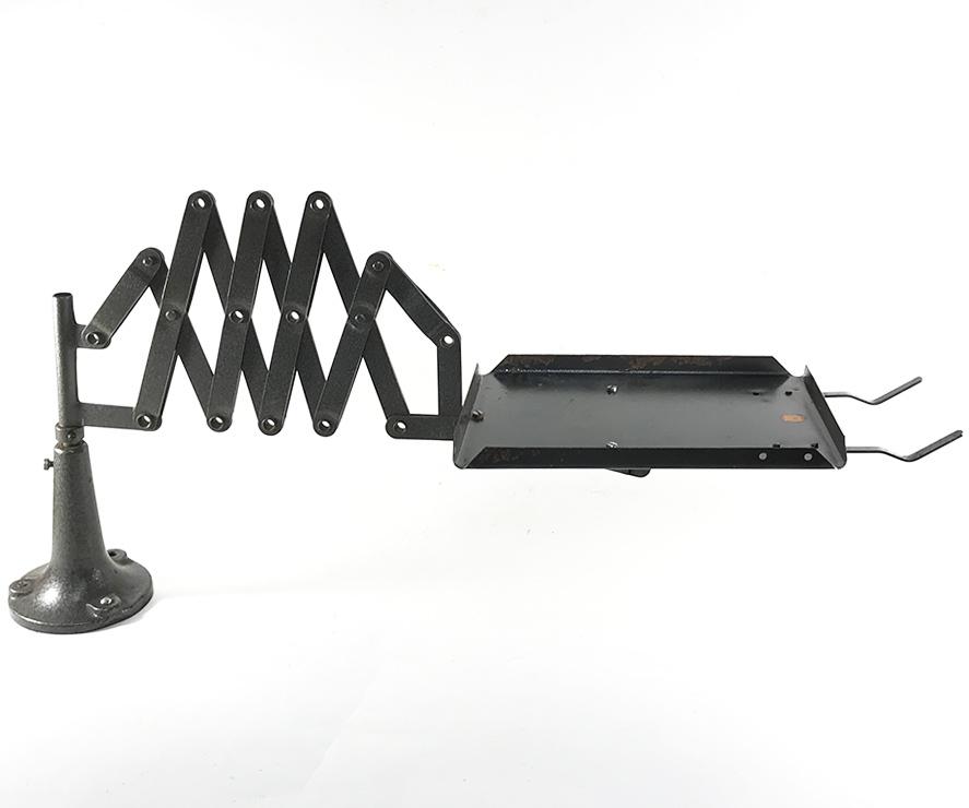1940'sドイツ製シザー電話機台/ホルダー/バウハウス/シザーランプ/店舗什器/アンティーク/ビンテージ/Gras/Ravel/工業系/テーブル/モダン_画像2