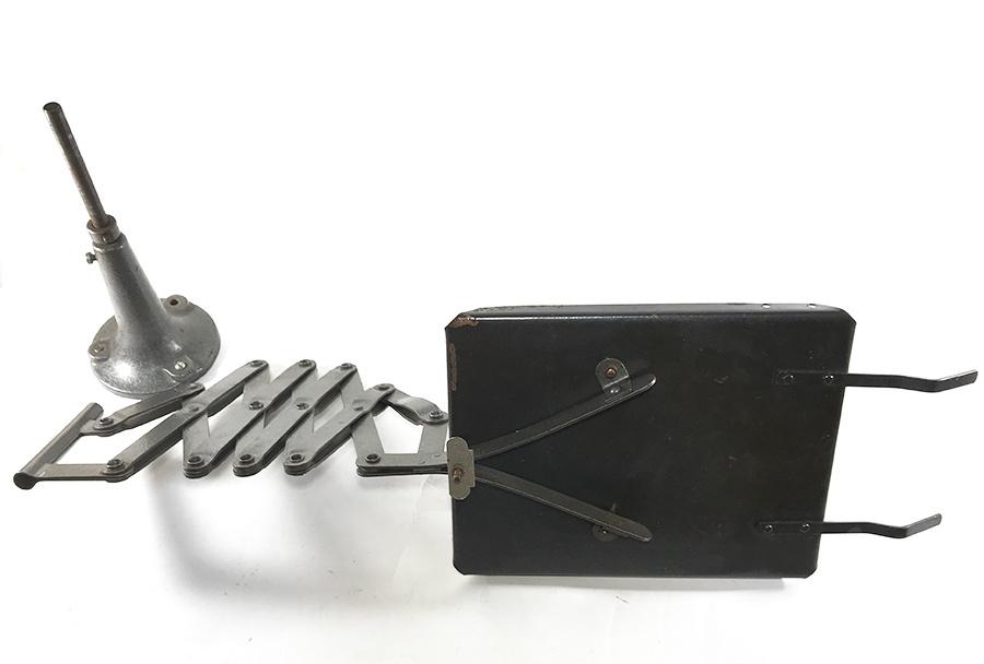 1940'sドイツ製シザー電話機台/ホルダー/バウハウス/シザーランプ/店舗什器/アンティーク/ビンテージ/Gras/Ravel/工業系/テーブル/モダン_画像6