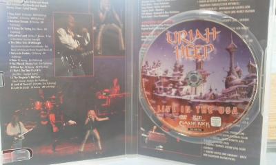 激レア DVD 廃盤 ユーライア・ヒープ Uriah Heep-Live In The USA リマスター版 Lionheart/Praying Mantis/The Sweet_画像2