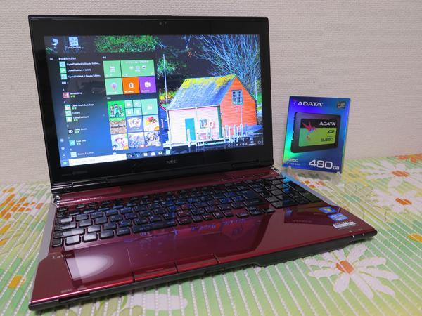【高速Core i7(Ivy Bridge)★爆速SSD】NEC LL750/H レッド 新品SSD480G 最新Win10★メモリ8GB Blu-ray Office2016スピーカー高音質YAMAHA製