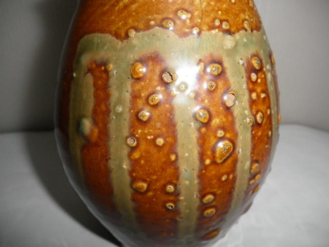 @@ 九州の焼きもの 小鹿田焼(おんたやき)蓋付 壺 壷 茶陶 つぼ 茶道具 古民具 古陶器  _画像2