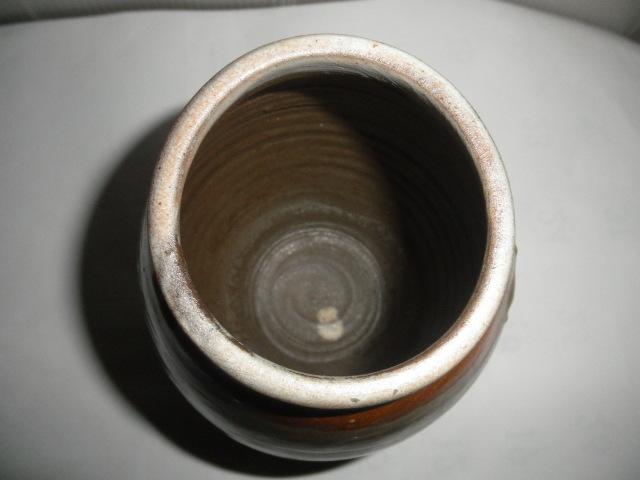 @@ 九州の焼きもの 小鹿田焼(おんたやき)蓋付 壺 壷 茶陶 つぼ 茶道具 古民具 古陶器  _画像6