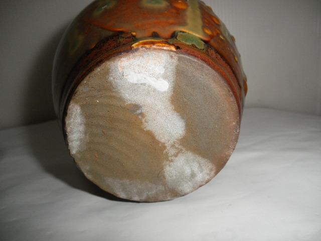 @@ 九州の焼きもの 小鹿田焼(おんたやき)蓋付 壺 壷 茶陶 つぼ 茶道具 古民具 古陶器  _画像8