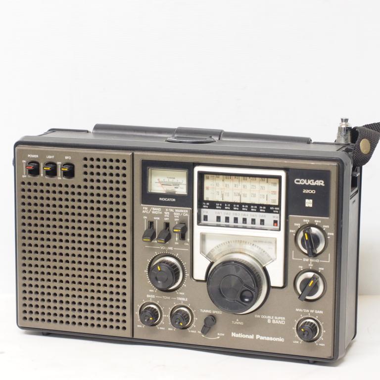 O) 短波ラジオ COUGAR RF-2200 パナソニック ジャンク