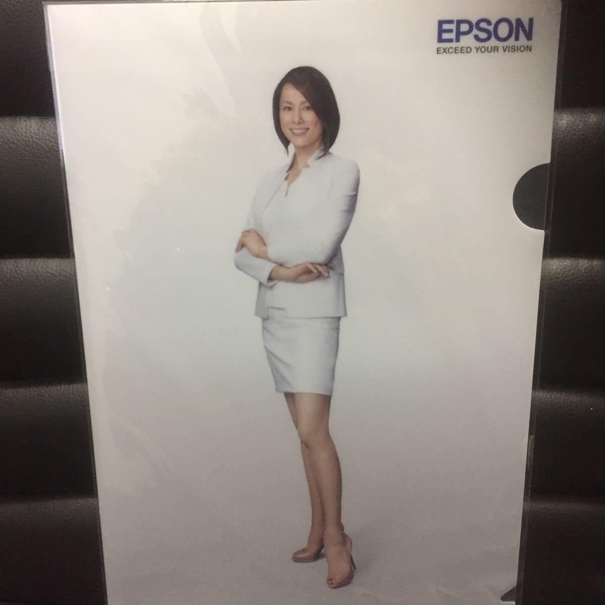 未使用★★米倉涼子 EPSON クリアファイル 非売品 エプソン★2_画像2