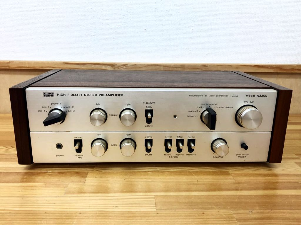 ◆LAX KIT◆ラックスキット ☆HIGH FIDELITY STEREO PREAMPLIFIER☆ (model A3300) プリアンプ ジャンク 323m4