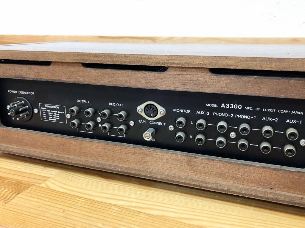 ◆LAX KIT◆ラックスキット ☆HIGH FIDELITY STEREO PREAMPLIFIER☆ (model A3300) プリアンプ ジャンク 323m4_画像7