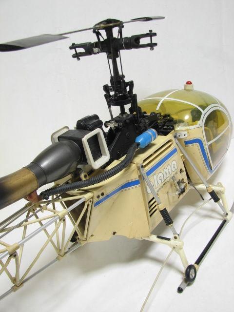 ヒロボー ラジコン エンジンヘリ ラマ SA-315B フタバ PCM1024H MAX 32F-HS/GOLDee GV-60/予備パーツ ジャンク_画像2