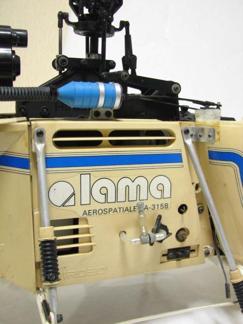 ヒロボー ラジコン エンジンヘリ ラマ SA-315B フタバ PCM1024H MAX 32F-HS/GOLDee GV-60/予備パーツ ジャンク_画像3