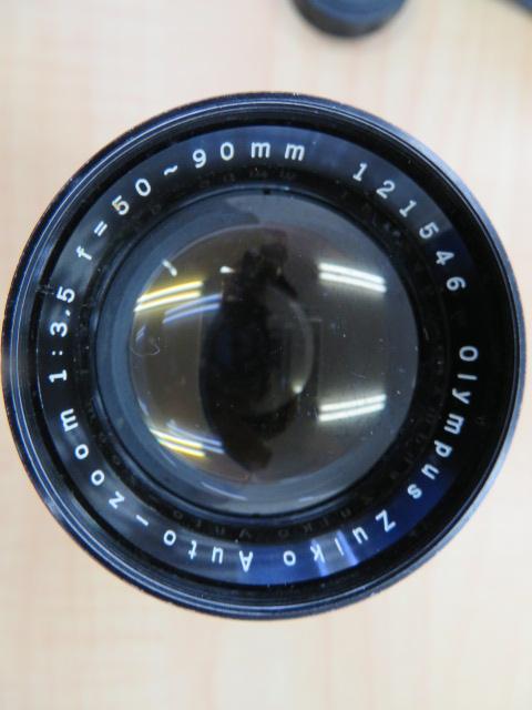 【920-A】OLYMPYS-PEN F オリンパス ペンF 稀少ケース付き レンズ2点付き_画像6