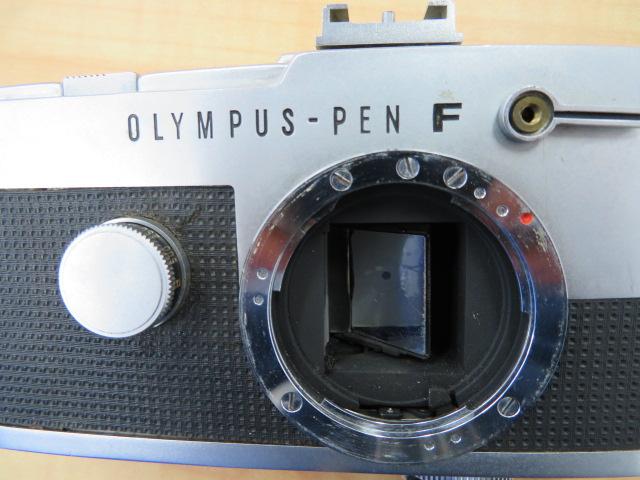 【920-A】OLYMPYS-PEN F オリンパス ペンF 稀少ケース付き レンズ2点付き_画像8