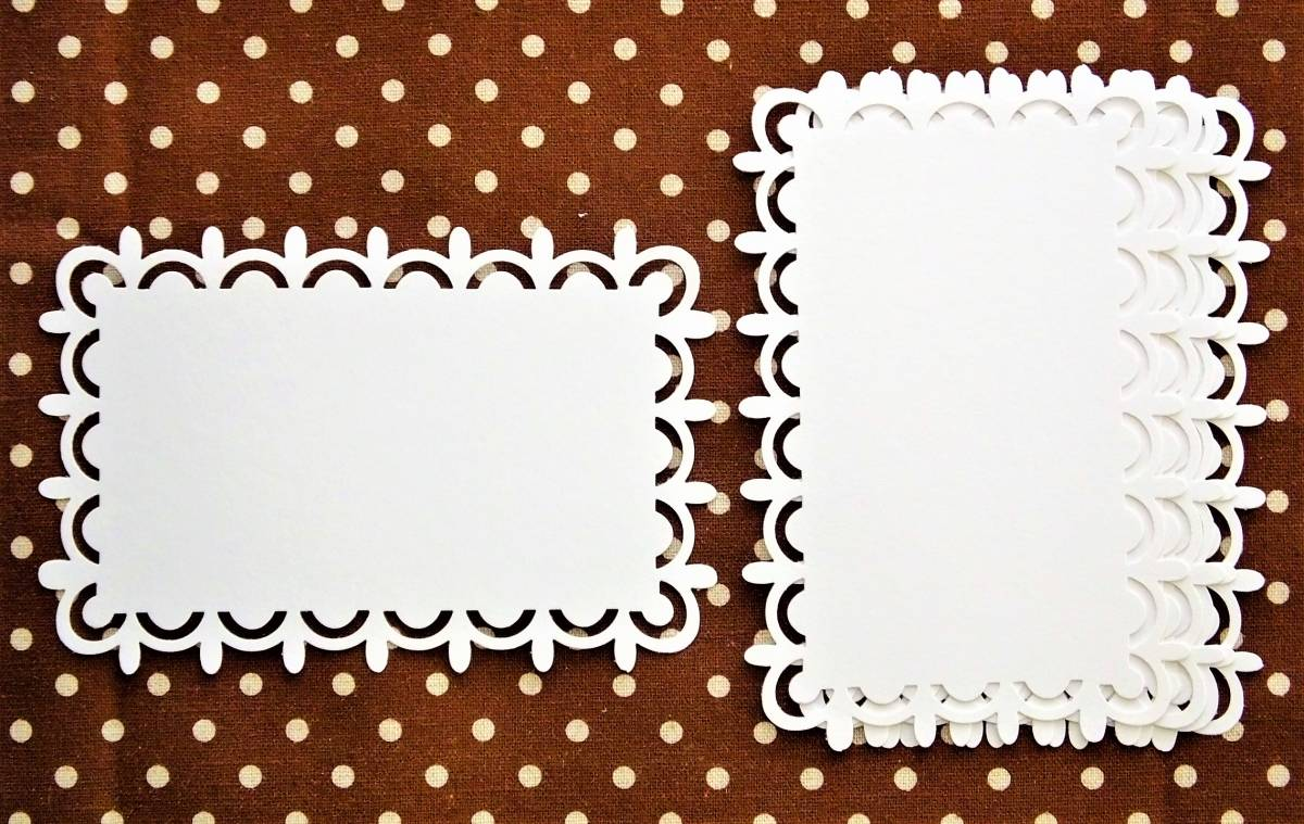 Craft Punch *Frame*Elongated (Small)*White*Scalloped Teardrop*5pc*3