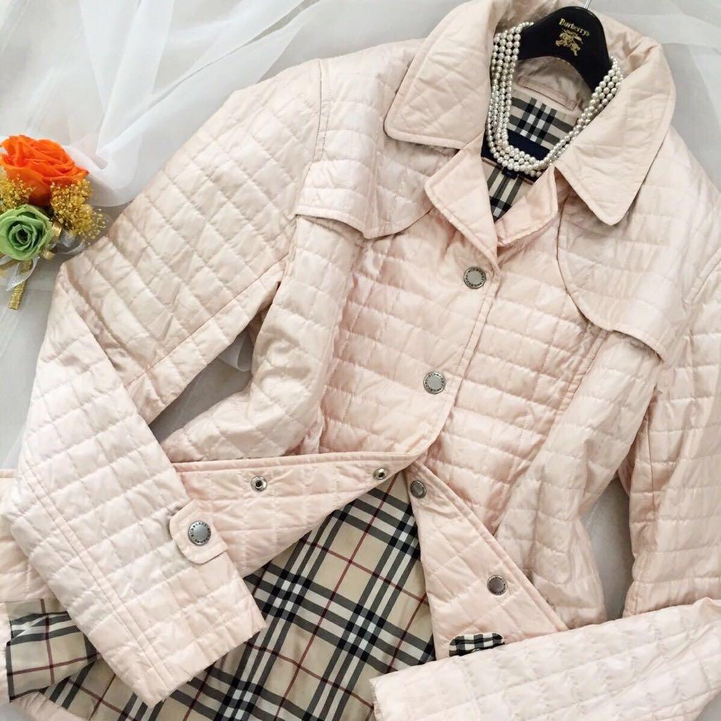 美品 人気モデル ★Burberry キルティング コート ★ レディース 美しいシルエット 可愛