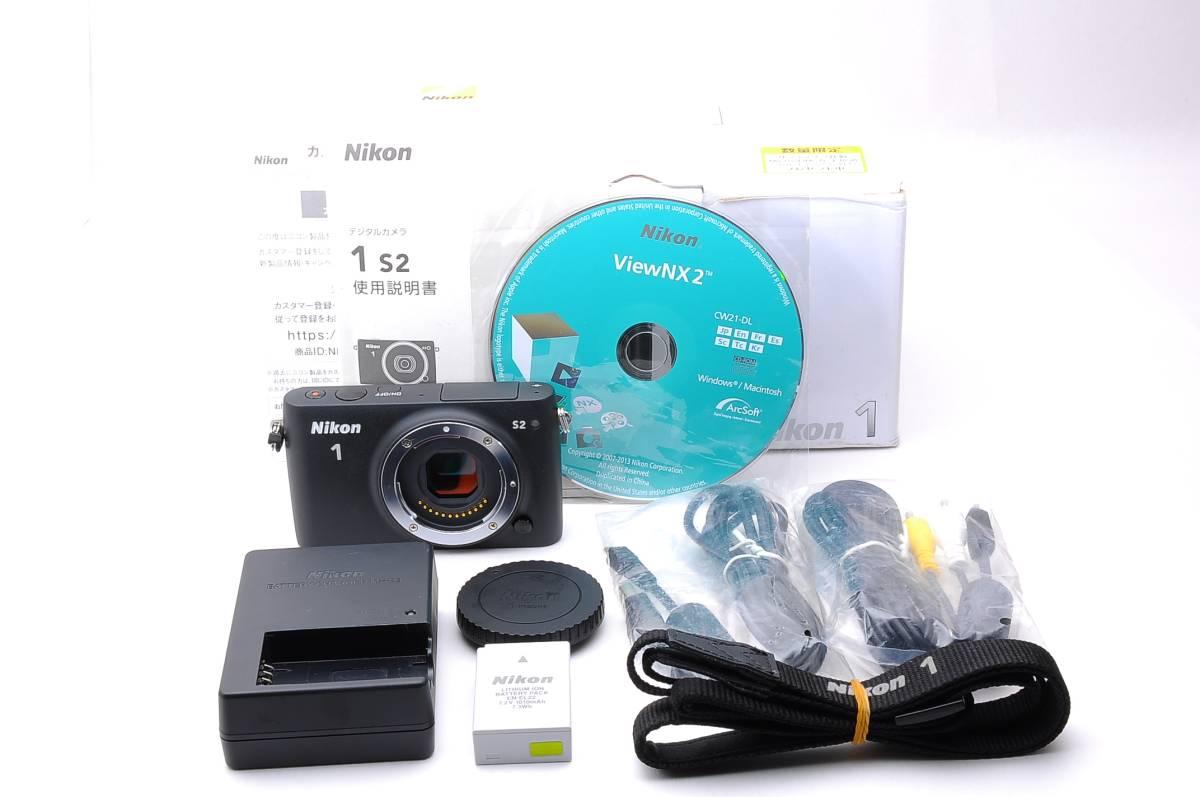 【美品】Nikon ミラーレス一眼 Nikon1 S2 ボディー ブラック nikon s2 body #1058